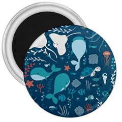 Cool Sea Life Pattern 3  Magnets