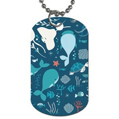 Cool Sea Life Pattern Dog Tag (two Sides)