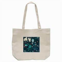Cool Sea Life Pattern Tote Bag (cream)
