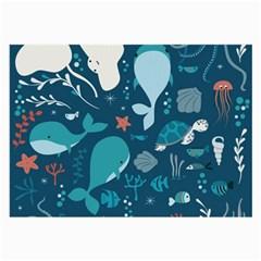 Cool Sea Life Pattern Large Glasses Cloth
