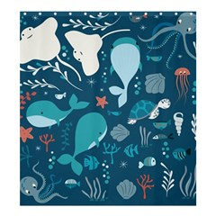 Cool Sea Life Pattern Shower Curtain 66  X 72  (large)
