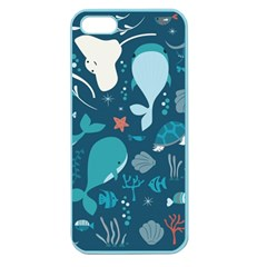 Cool Sea Life Pattern Apple Seamless Iphone 5 Case (color)