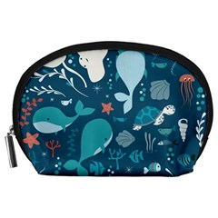 Cool Sea Life Pattern Accessory Pouches (large)