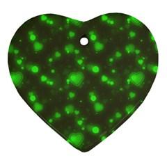 Neon Green Bubble Hearts Ornament (heart)