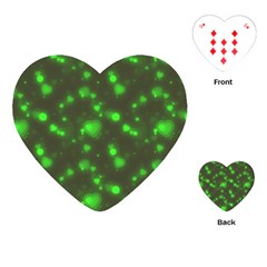 Neon Green Bubble Hearts Playing Cards (heart)