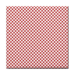 Sexy Red And White Polka Dot Tile Coasters