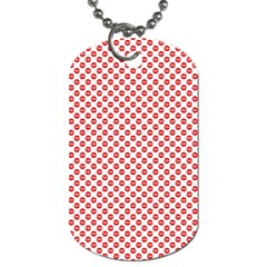 Sexy Red And White Polka Dot Dog Tag (two Sides)
