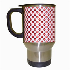 Sexy Red And White Polka Dot Travel Mugs (white)