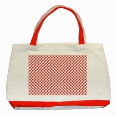Sexy Red And White Polka Dot Classic Tote Bag (red)