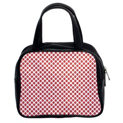 Sexy Red And White Polka Dot Classic Handbags (2 Sides)