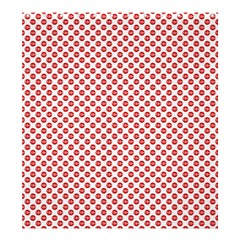 Sexy Red And White Polka Dot Shower Curtain 66  X 72  (large)