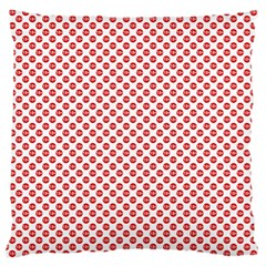 Sexy Red And White Polka Dot Large Cushion Case (one Side)