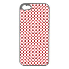 Sexy Red And White Polka Dot Apple Iphone 5 Case (silver)