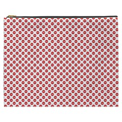Sexy Red And White Polka Dot Cosmetic Bag (xxxl)