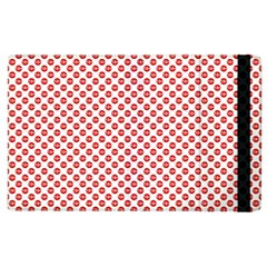 Sexy Red And White Polka Dot Apple Ipad 2 Flip Case