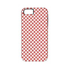 Sexy Red And White Polka Dot Apple Iphone 5 Classic Hardshell Case (pc+silicone)