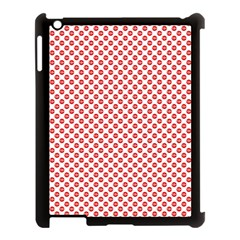 Sexy Red And White Polka Dot Apple Ipad 3/4 Case (black)