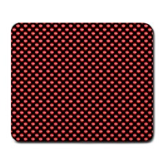 Sexy Red And Black Polka Dot Large Mousepads