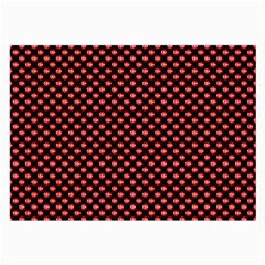 Sexy Red And Black Polka Dot Large Glasses Cloth (2 Side)