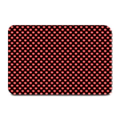 Sexy Red And Black Polka Dot Plate Mats