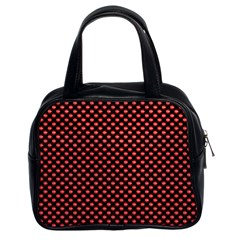 Sexy Red And Black Polka Dot Classic Handbags (2 Sides)