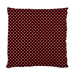 Sexy Red And Black Polka Dot Standard Cushion Case (two Sides)