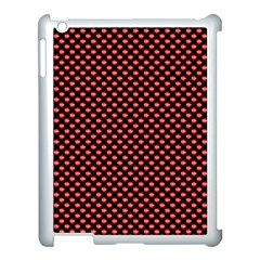 Sexy Red And Black Polka Dot Apple Ipad 3/4 Case (white)