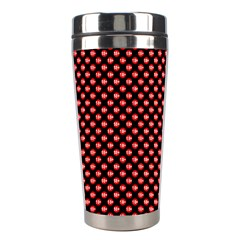 Sexy Red And Black Polka Dot Stainless Steel Travel Tumblers
