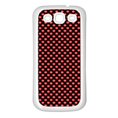 Sexy Red And Black Polka Dot Samsung Galaxy S3 Back Case (white)