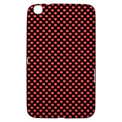 Sexy Red And Black Polka Dot Samsung Galaxy Tab 3 (8 ) T3100 Hardshell Case