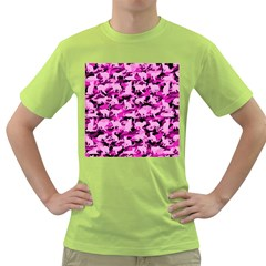 Hot Pink Catmouflage Camouflage Green T Shirt