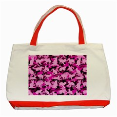 Hot Pink Catmouflage Camouflage Classic Tote Bag (red)