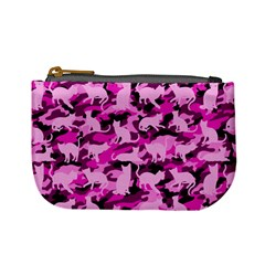 Hot Pink Catmouflage Camouflage Mini Coin Purses