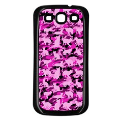 Hot Pink Catmouflage Camouflage Samsung Galaxy S3 Back Case (black)