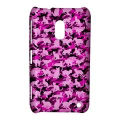 Hot Pink Catmouflage Camouflage Nokia Lumia 620