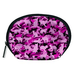 Hot Pink Catmouflage Camouflage Accessory Pouches (medium)