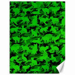 Bright Neon Green Catmouflage Canvas 18  X 24