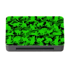 Bright Neon Green Catmouflage Memory Card Reader With Cf