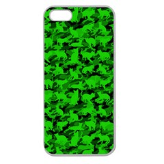 Bright Neon Green Catmouflage Apple Seamless Iphone 5 Case (clear)