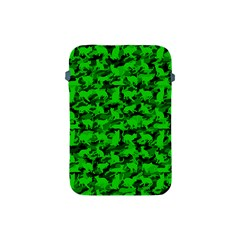 Bright Neon Green Catmouflage Apple Ipad Mini Protective Soft Cases