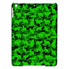 Bright Neon Green Catmouflage Ipad Air Hardshell Cases