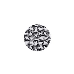 Black And White Catmouflage Camouflage 1  Mini Buttons