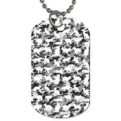 Black And White Catmouflage Camouflage Dog Tag (one Side)