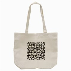 Black And White Catmouflage Camouflage Tote Bag (cream)