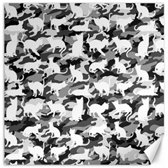 Black And White Catmouflage Camouflage Canvas 16  X 16