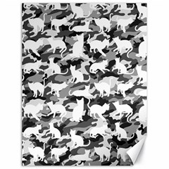 Black And White Catmouflage Camouflage Canvas 18  X 24