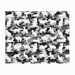 Black And White Catmouflage Camouflage Small Glasses Cloth (2 Side)