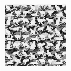 Black And White Catmouflage Camouflage Medium Glasses Cloth