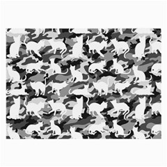 Black And White Catmouflage Camouflage Large Glasses Cloth (2 Side)