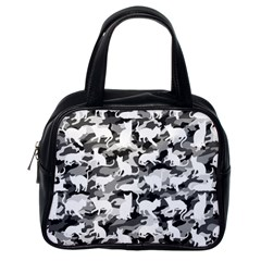 Black And White Catmouflage Camouflage Classic Handbags (one Side)